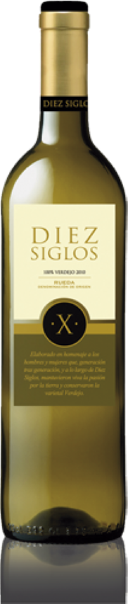 Diez Siglos Verdejo 6 botellas   RUEDA �C CASTILLA Y LEÓN